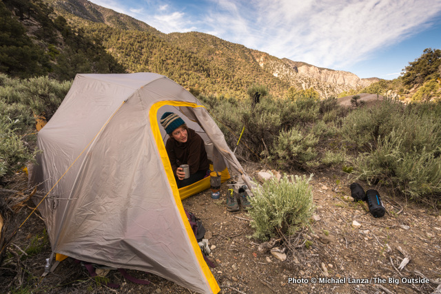Big Agnes Fly Creek HV UL3 in Panamint Range, Death Valley National Park.