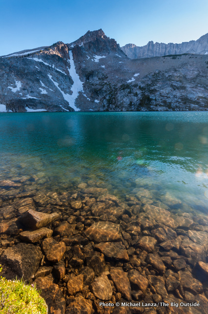 Sapphire Lake in the Big Boulder Lakes in Idaho's White Cloud Mountains.