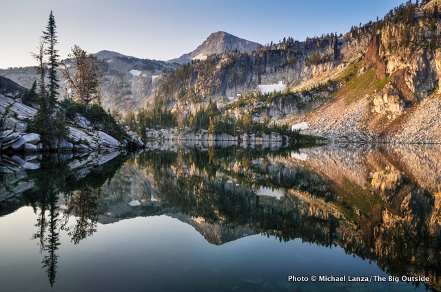 Mirror Lake in the Lakes Basin, Eagle Cap Wilderness, Oregon.