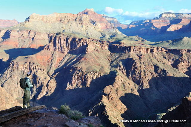 Mark Fenton on the South Kaibab Trail in the Grand Canyon.
