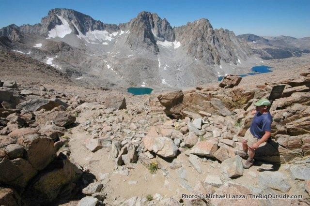 Jason Kauffman at Lamarck Col in the John Muir Wilderness of California's High Sierra.