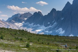 Hiking to Floe Lake.