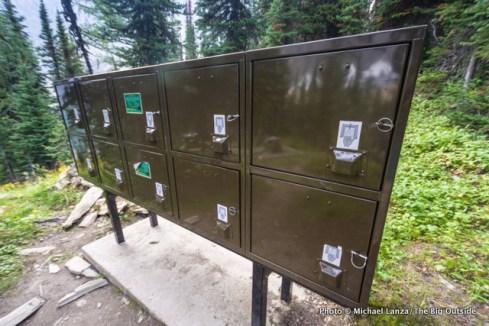 Food lockers, Floe Lake camping area.