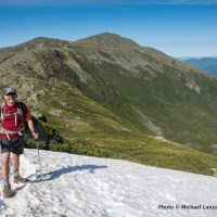 Mark Fenton hiking Mount Jefferson.