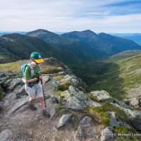 Nate hiking Mount Washington.