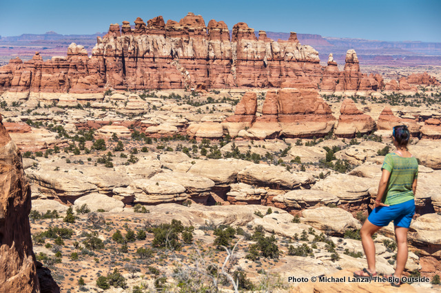 Jasmine Wilhelm in Chesler Park, Needles District, Canyonlands National Park.