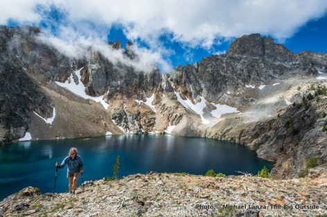 "Unnamed ""Goat"" Lake, Sawtooth Mountains, Idaho."