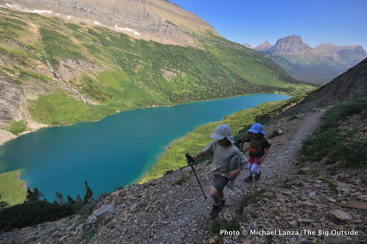 Hiking the Gunsight Pass Trail, Glacier National Park.