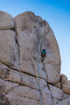 Climber on Sail Away, Joshua Tree National Park.