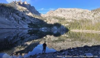 Middle Bench Lake, Sawtooth Mountains, Idaho.