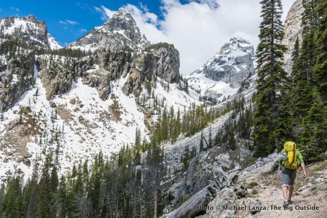 Hiking to Garnet Canyon, Grand Teton National Park.