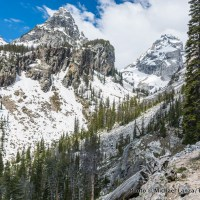 Hiking to Garnet Canyon, Grand Teton National Park.