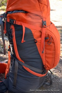 The North Face Fovero 70 side.