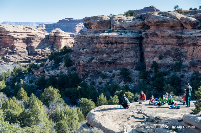 Above a campsite in Squaw Canyon, Needles District, Canyonlands National Park.