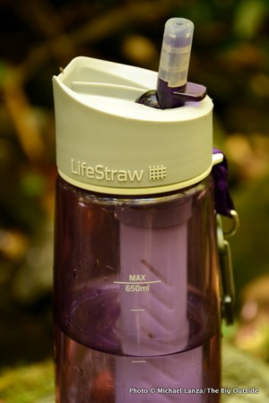 LifeStraw Go cap and mouthpiece.