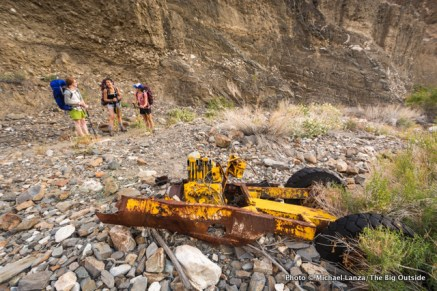 Mining artifacts in Surprise Canyon, Death Valley National Park.
