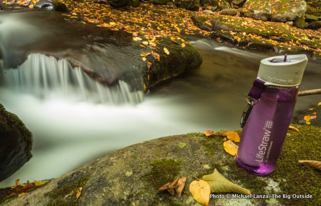 The LifeStraw Go Bottle With 2-Stage Filtration in Great Smoky Mountains National Park.
