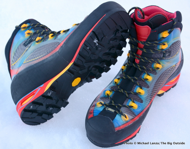 La Sportiva Trango Cube GTX mountaineering boots.