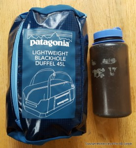 Patagonia Lightweight Black Hole Duffel 45L stuffed.