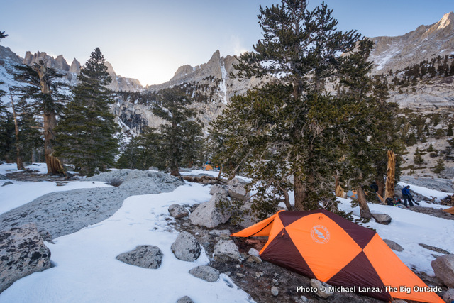First campsite at 10,300 feet below California's Mount Whitney.