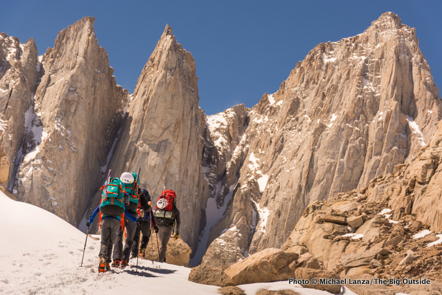 Approaching high camp at 12,000 feet below Mount Whitney.