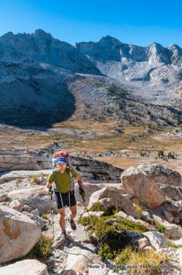 Hiking to Burro Pass in Yosemite.
