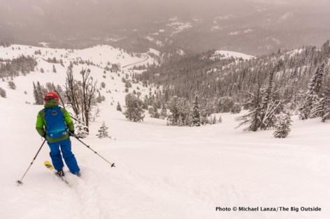 Nate backcountry skiing near Galena Summit, Idaho.