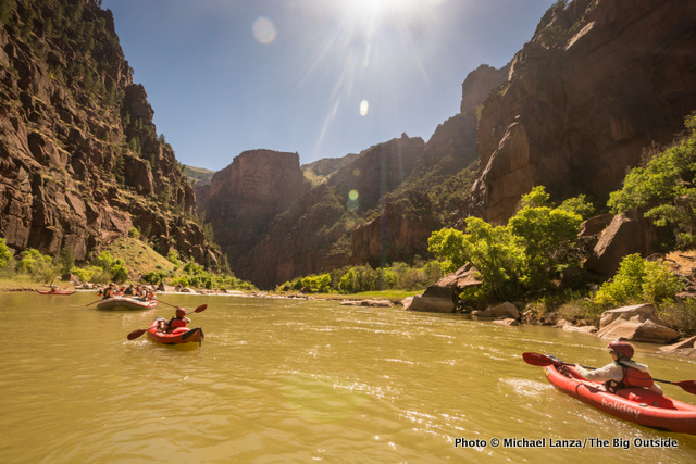 Day two in Lodore Canyon.