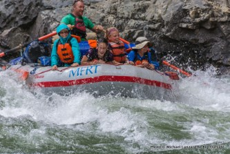 Alex (2nd from right) on Idaho's Middle Fork Salmon River.