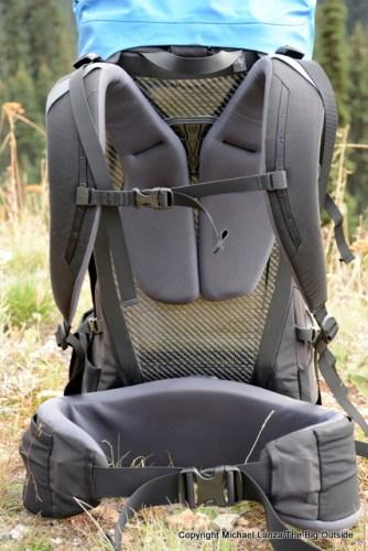 Arc'teryx Bora 50 harness.