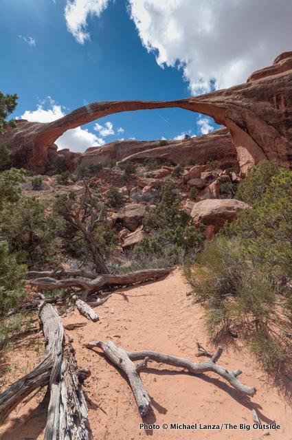 Landscape Arch, Devils Garden, Arches National Park.