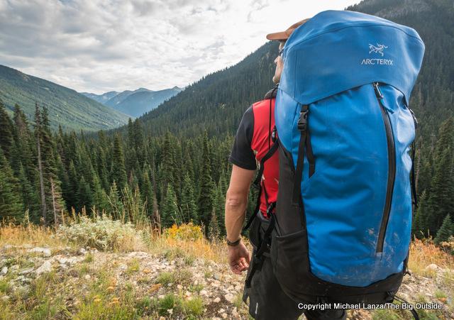 Arc'teryx Bora AR 50 backpack.