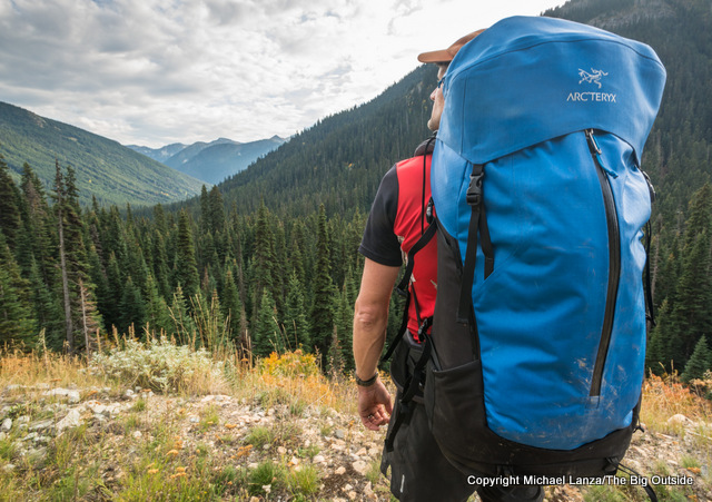 Arc'teryx Bora AR 50 backpack.