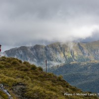 Trekking the Dusky Track, Fiordland National Park, New Zealand.