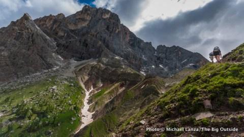 Trail 712 to Col Verde, Parco Naturale Paneveggio Pale di San Martino, Dolomite Mountains, Italy.