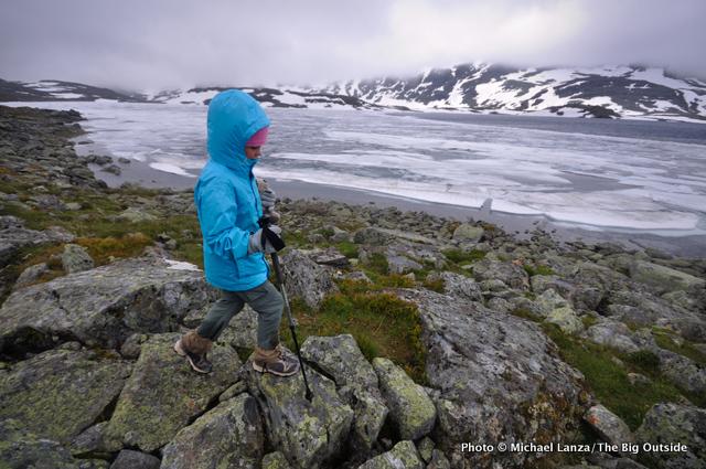 My daughter, Alex, trekking in Norway's Jotunheimen National Park.
