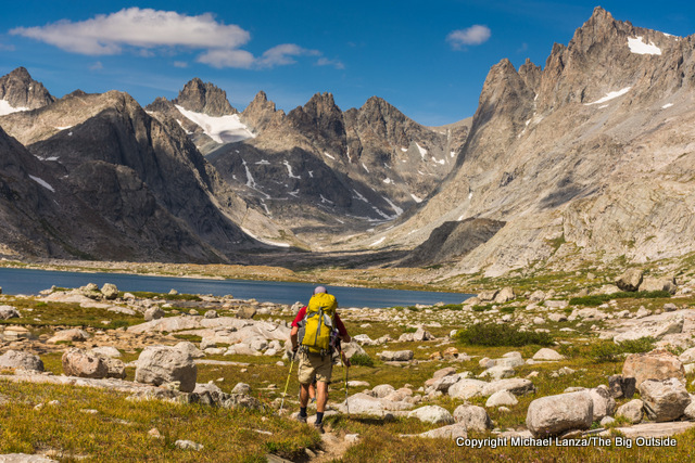 Backpacking into Titcomb Basin in Wyoming's Wind River Range.