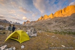 Campsite in Titcomb Basin, Wind River Range, Wyoming.