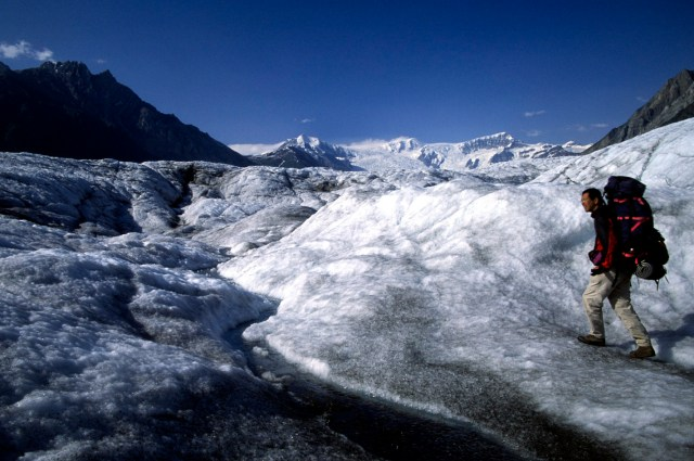 QT Luong on the Root Glacier in Wrangell-St. Elias National Park, Alaska.