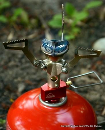 The MSR Pocketrocket 2 backpacking stove.
