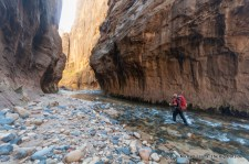 Day two backpacking Zion's Narrows.