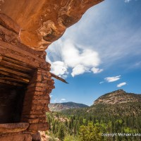 Ancient Puebloan ruin in Woodenshoe Canyon, Dark Canyon Wilderness, Utah.