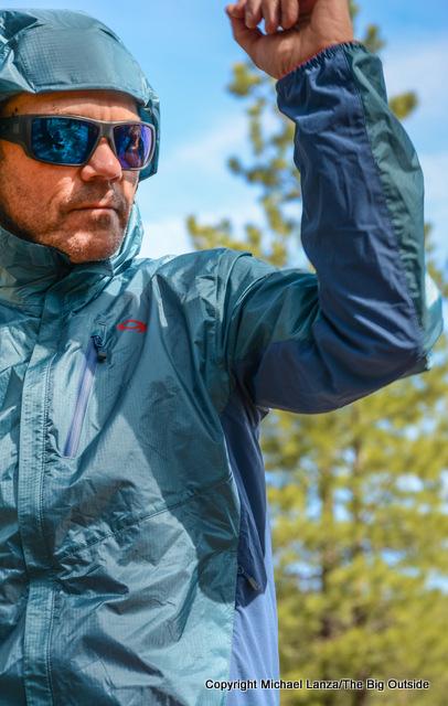 OR Helium Hybrid Hooded Jacket side panels.