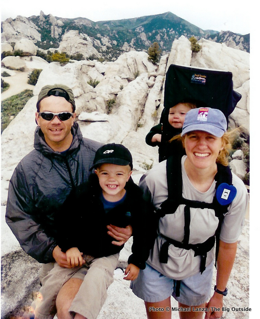 My family on a hike in Idaho's City of Rocks National Reserve.