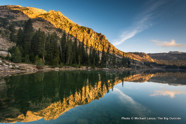 Dawn at Quiet Lake in Idaho's Cecil D. Andrus-White Clouds Wilderness, created in 2015.