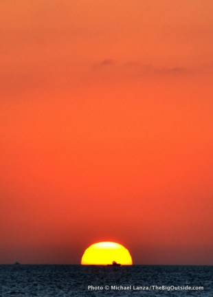 Sunset from Tiger Key, Ten Thousand Islands, Everglades National Park.
