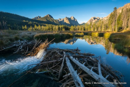 Dawn in the Fishhook Creek Valley, Sawtooth Mountains, Idaho.