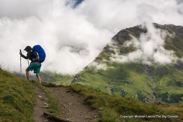 Trekking the Italian section of the Tour du Mont Blanc.