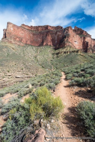 The Tonto Trail at Horn Creek in the Grand Canyon.