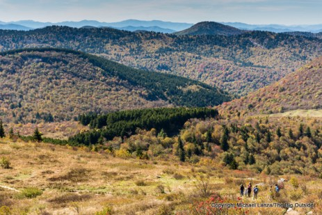 Hiking the Art Loeb Trail on Tennent Mountain, Pisgah National Forest, N.C.